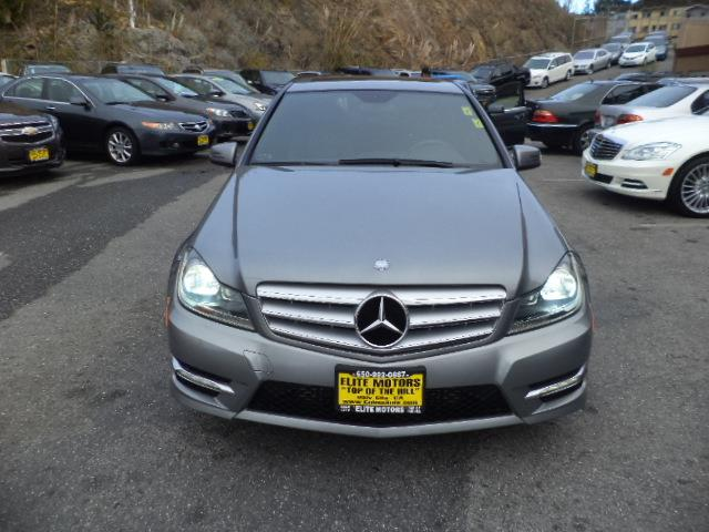 2012 MERCEDES-BENZ C-CLASS C250 SPORT 4DR SEDAN palladium metallic navigation bluetooth chrome do