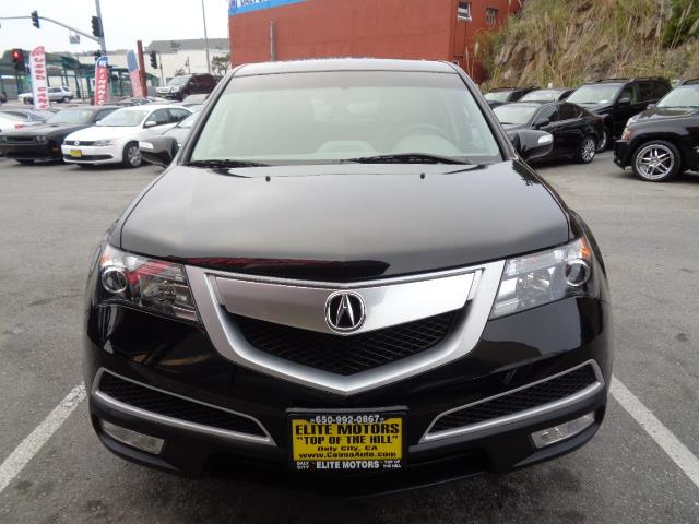 2012 ACURA MDX SH-AWD WTECH 4DR SUV WTECHNOLO black one owner lease return from honda financial