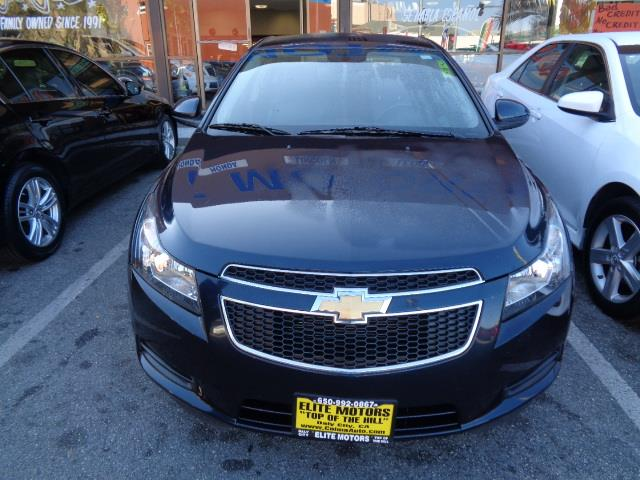 2014 CHEVROLET CRUZE 2LT AUTO 4DR SEDAN W1SH midnight blue leather warranty moon roof black gra