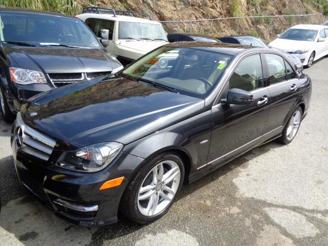 2012 MERCEDES-BENZ C-CLASS C250 SPORT 4DR SEDAN steel grey navigation heated seats grille color