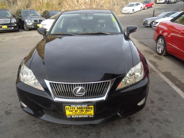 2009 LEXUS IS 250 SPORT SEDAN black navigation leather leather navigation system 135767 miles
