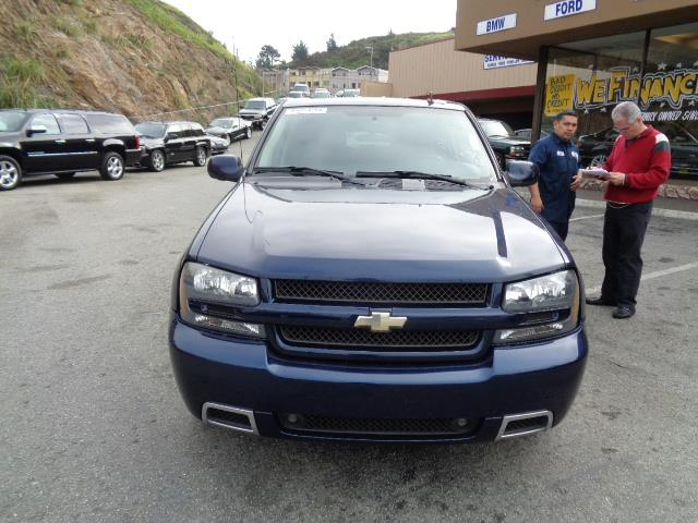 2008 CHEVROLET TRAILBLAZER SS imperial blue metallic moon roof 96869 miles VIN 1GNES13H7821460