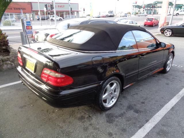 2002 MERCEDES-BENZ CLK-CLASS CLK55 AMG 2DR CABRIOLET black rare clk55 amg front air conditioningf