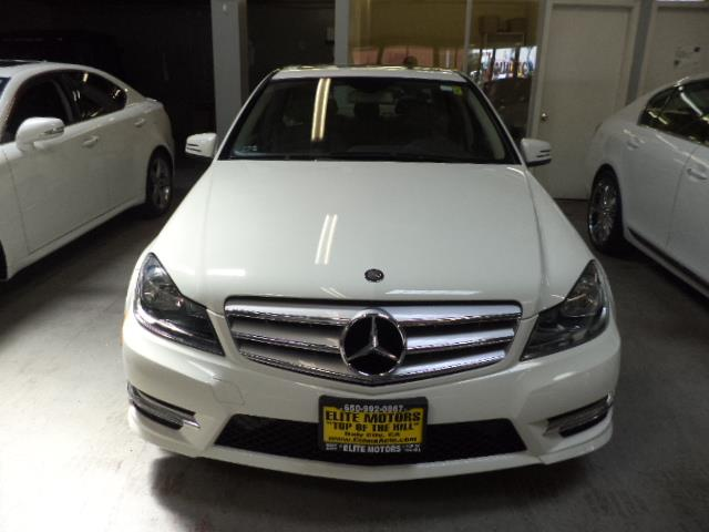 2012 MERCEDES-BENZ C-CLASS C250 SPORT 4DR SEDAN arctic white warranty navigation chrome door hand