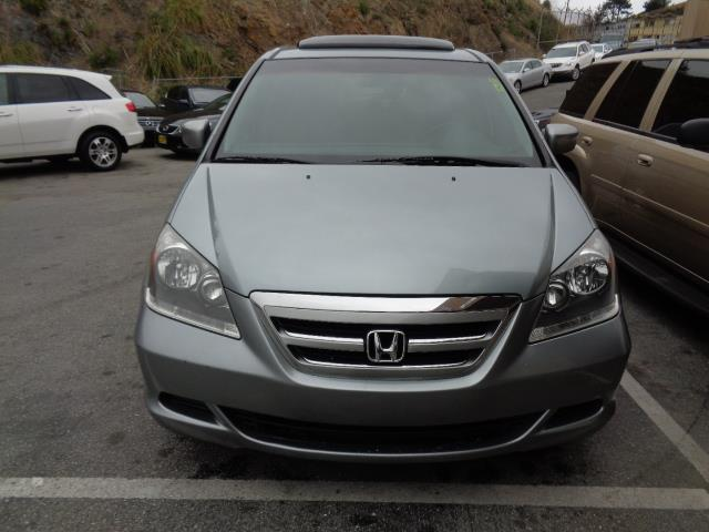 2007 HONDA ODYSSEY EX-L blue gray metallic leather navigation 98216 miles VIN 5FNRL38747B019