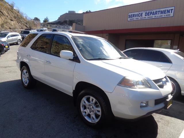 2006 ACURA MDX TOURING WNAVI WRES AWD 4DR SUV tuscan white pearl navigation dvd backup camera