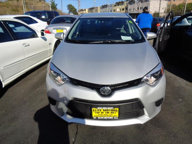 2014 TOYOTA COROLLA L 4DR SEDAN 4A silver body side moldingdoor handle color - body-colorfront