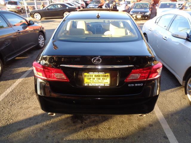 2011 LEXUS ES 350 BASE 4DR SEDAN black navigation heated seats backup camera bluetooth body sid