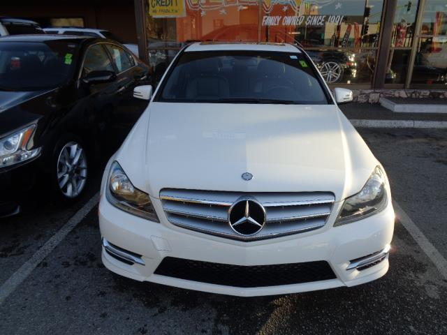 2012 MERCEDES-BENZ C-CLASS C250 SPORT 4DR SEDAN arctic white sport package navigation warranty c