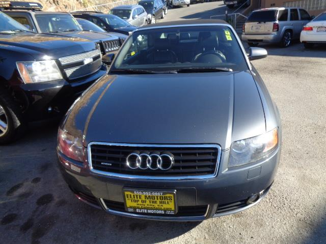 2006 AUDI A4 30 QUATTRO AWD 2DR CONVERTIBLE gray power door locks vehicle anti-theft 4wd awd