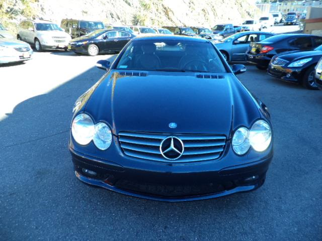 2003 MERCEDES-BENZ SL-CLASS SL500 2DR CONVERTIBLE black opal metallic panorama roof navigation h
