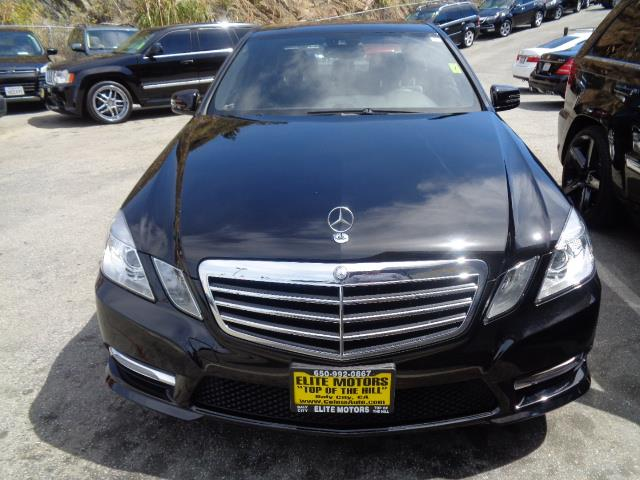 2013 MERCEDES-BENZ E-CLASS E350 SPORT 4DR SEDAN black navigation sport package lease return fro