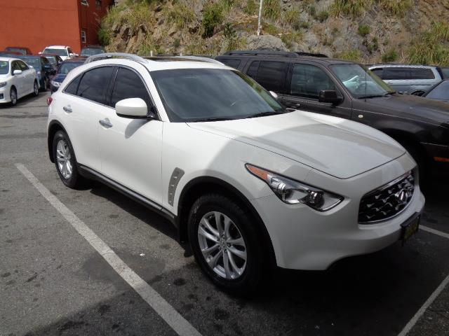 2009 INFINITI FX35 BASE AWD 4DR SUV moonlight white metallic rear spoiler - rooflinebody side mo