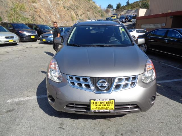 2013 NISSAN ROGUE SV 4DR CROSSOVER polished metal metallic rear spoiler - rooflinebody side mold