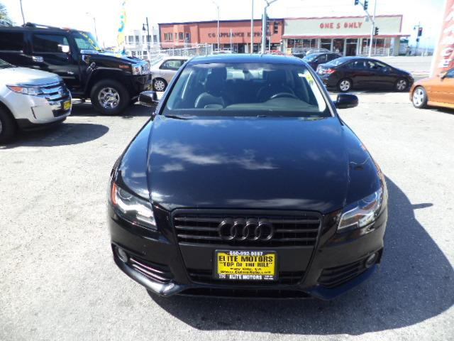 2011 AUDI A4 20T PREMIUM PLUS 4DR SEDAN obsidian black heated seats moon roof audi chrome-look g