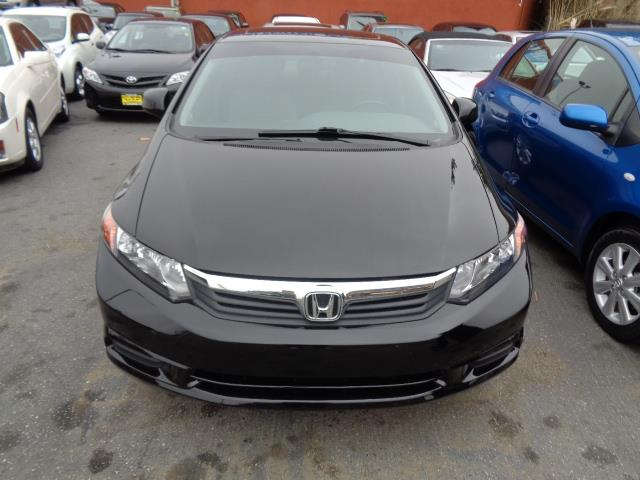 2012 HONDA CIVIC EX-L SEDAN black leather moon roof heated seats 44984 miles VIN 2HGFB2F95CH