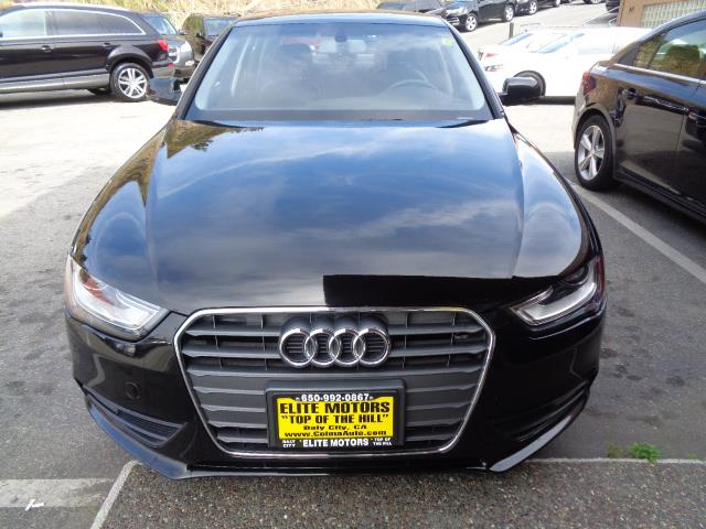 2013 AUDI A4 20T PREMIUM 4DR SEDAN black leather moon roof 35360 miles VIN WAUAFAFL6DN01104