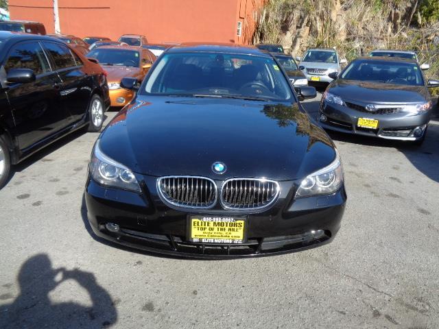 2007 BMW 5 SERIES 550I 4DR SEDAN black sapphire active cruise controlactive steeringanthracite m