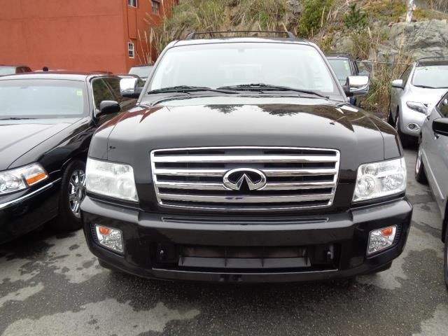 2006 INFINITI QX56 BASE 4DR SUV 4WD liquid onyx metallic navigation dvd heated seats backup cam