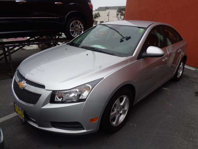 2013 CHEVROLET CRUZE 1LT AUTO 4DR SEDAN W1SD ice silver door handle color - body-colorfront bum