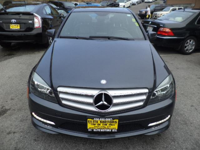 2011 MERCEDES-BENZ C-CLASS C300 SPORT 4DR SEDAN steel grey metallic navigation bluetooth heated
