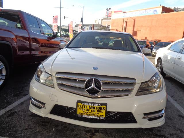 2012 MERCEDES-BENZ C-CLASS C250 SPORT 4DR SEDAN white navigation sport package grille color - c