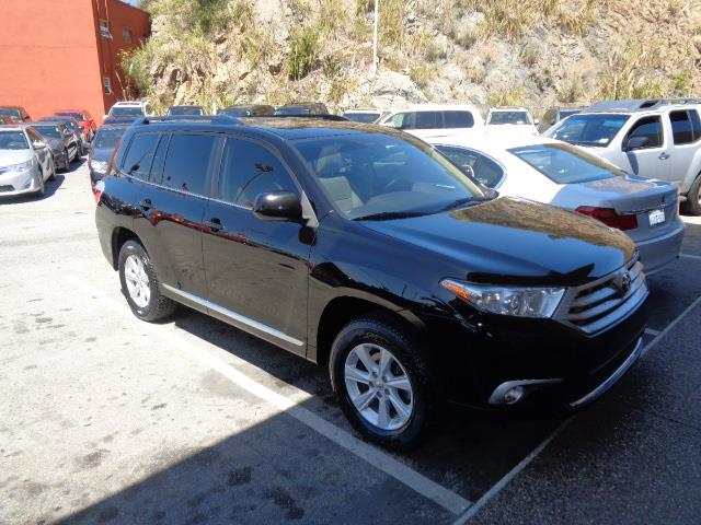 2012 TOYOTA HIGHLANDER SE AWD 4DR SUV black leather heated seats backup camera rear spoiler - ro