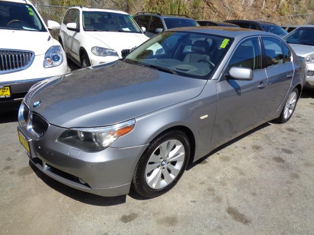 2005 BMW 5 SERIES 545I 4DR SEDAN silver grey metallic sport package navigation heated seats bev