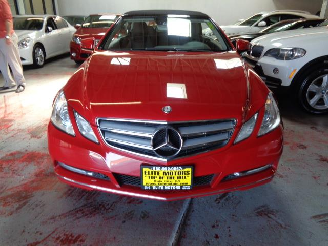 2012 MERCEDES-BENZ E-CLASS E350 2DR CONVERTIBLE mars red very rare in mars red navigation heated