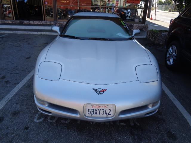 2001 CHEVROLET CORVETTE BASE 2DR COUPE silver front air conditioningsteering wheel trim - leathe