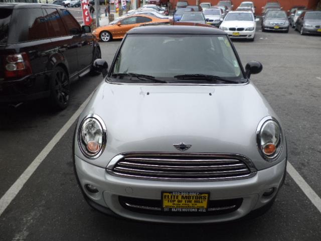 2011 MINI COOPER BASE 2DR HATCHBACK white silver aerodynamic kitauto dimming mirrorsblack bonnet