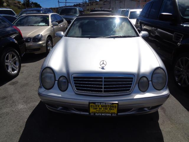 2000 MERCEDES-BENZ CLK-CLASS CLK320 2DR CONVERTIBLE silver front air conditioningfront air condi