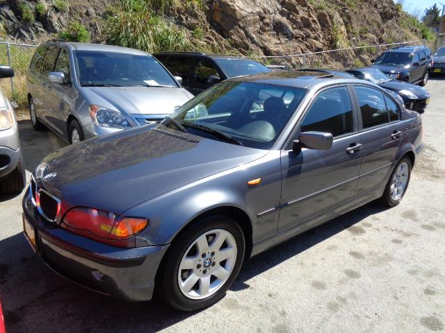 2002 BMW 3 SERIES 325I 4DR SEDAN steel grey premium package metallic paintwood interior trimfro