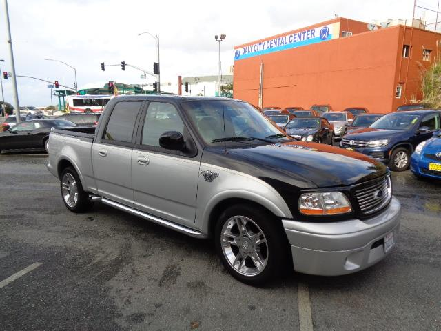 2003 FORD F-150 HARLEY-DAVIDSON 4DR SUPERCREW RW black silver two tone low low miles leather moo