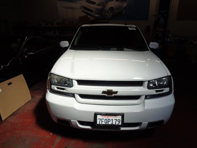 2007 CHEVROLET TRAILBLAZER SS summit white all wheel drive 3ss navigation dvd leather moon r