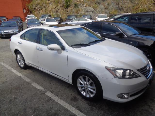 2012 LEXUS ES 350 BASE 4DR SEDAN pearl white navigation system sun roofnavigation lease return