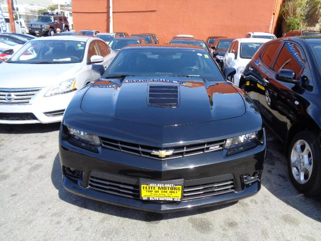 2014 CHEVROLET CAMARO SS 2DR COUPE W2SS black gray with black stripes outdoor vehicle coverred