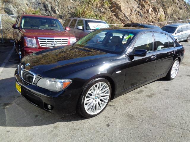 2007 BMW 7 SERIES 750LI 4DR SEDAN jet black sport package premium package navigation heated and