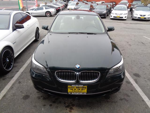2010 BMW 5 SERIES 528I 4DR SEDAN deep green metallic navigation heated seats door handle color -