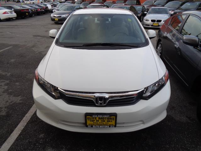 2012 HONDA CIVIC LX 4DR SEDAN 5A white bumper color - body-colordoor handle color - body-colormi