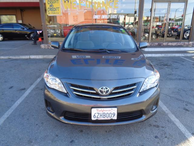 2013 TOYOTA COROLLA LE 4DR SEDAN 4A graphite grey body side moldingdoor edge guardsdoor handle c