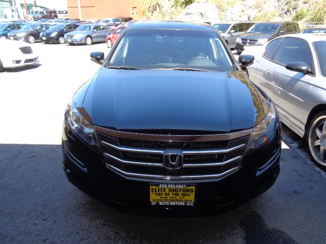 2012 HONDA CROSSTOUR EX-L 4DR CROSSOVER black leather heated seats moon roof bumper color - body