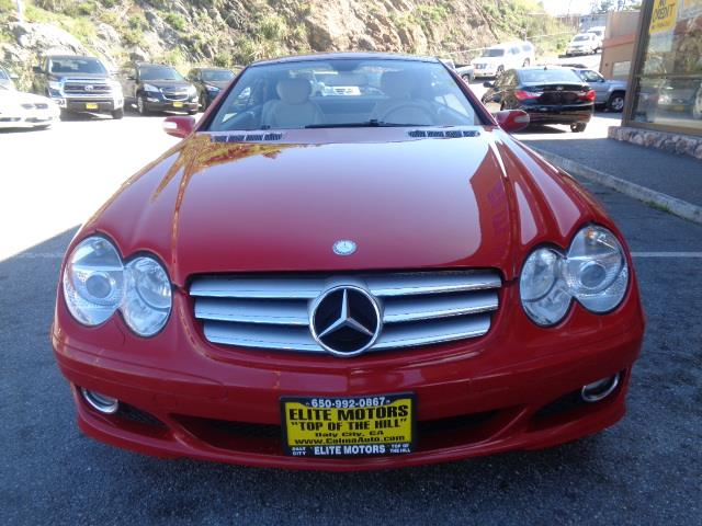 2008 MERCEDES-BENZ SL-CLASS SL550 2DR CONVERTIBLE mars red 318 trim packageblack ash wood trimc