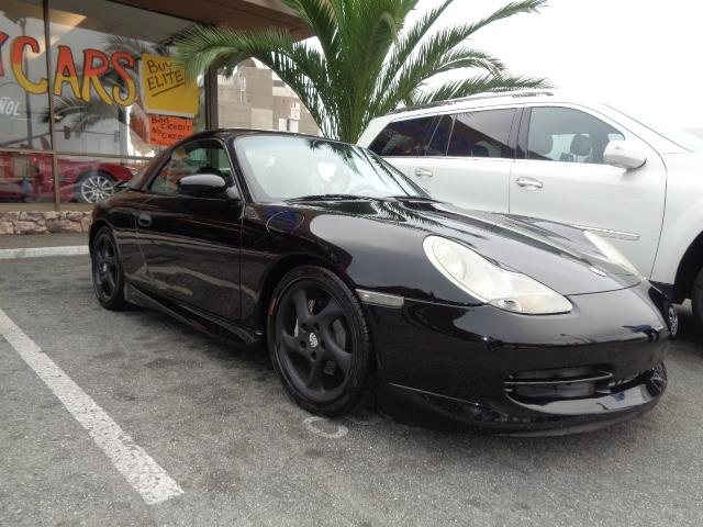 2001 PORSCHE 911 CARRERA 4 CABRIOLET black removeable hard top aero kit carbon fiber interior p