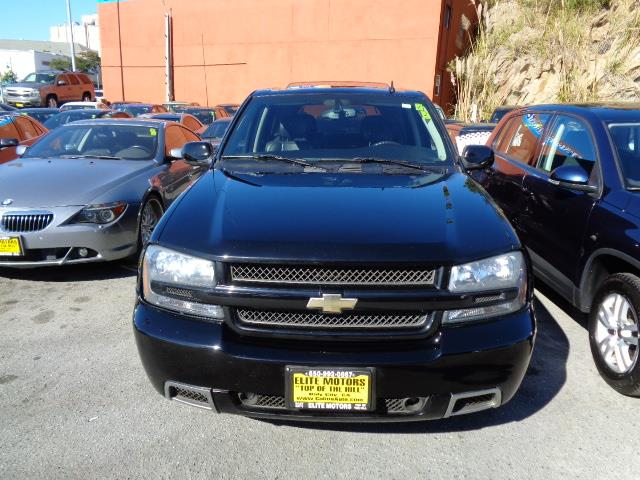 2007 CHEVROLET TRAILBLAZER SS black rare all wheel drive leather moon roof heated seats 11190