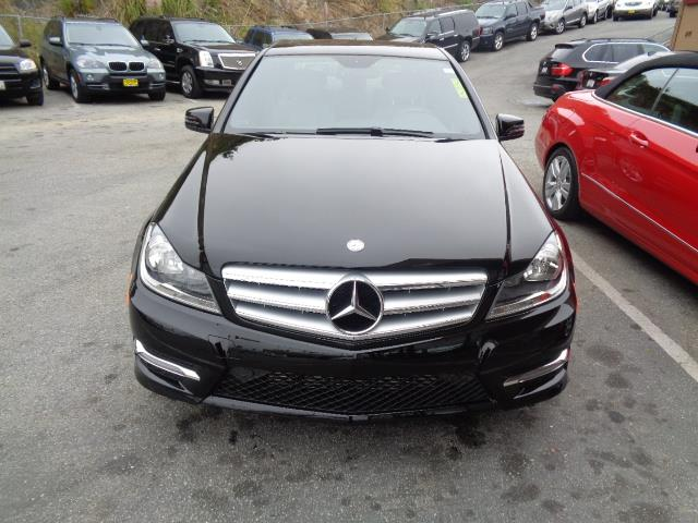 2013 MERCEDES-BENZ C-CLASS C250 SPORT 4DR SEDAN black chrome door handle insertsdiamond silver m