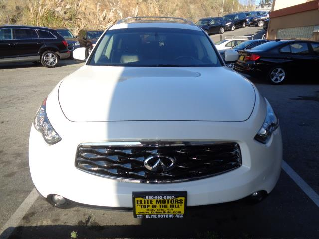 2009 INFINITI FX35 BASE 4DR SUV white leather navigation backup camera moon roof heated seats