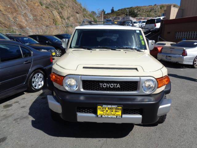 2008 TOYOTA FJ CRUISER BASE 4X2 SUV iceberg auxiliary lightsbrush guardbumper color - blackexh