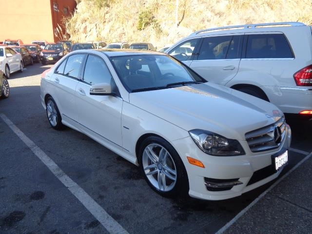 2012 MERCEDES-BENZ C-CLASS C250 SPORT SEDAN white child safety door locks power door locks vehi