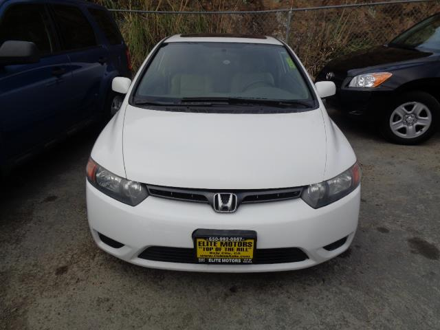 2008 HONDA CIVIC EX-L COUPE white leather moon roof 125747 miles VIN 2HGFG12978H570013